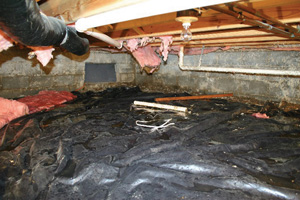 Crawl Space Repair Before in Bridgeport