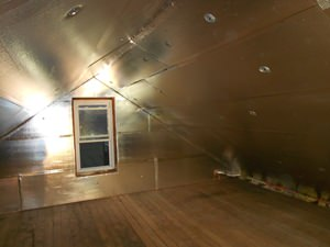 A Bridgeport attic with SuperAttic installed.