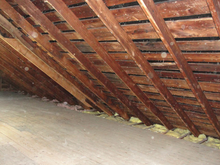 A New York Connecticut Pennsylvania and New Jersey attic before installation of SuperAttic & SuperAttic™ Home Insulation System in New York Connecticut ...