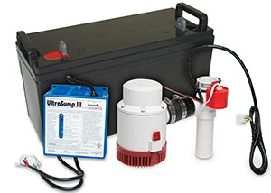 a battery backup sump pump system in Wayne